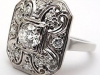 Art Deco Antique Platinum Ring